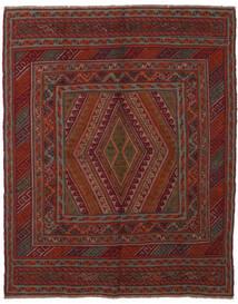 Kilim Golbarjasta Tapis 145X185 D'orient Tissé À La Main Noir/Marron Foncé (Laine, Afghanistan)