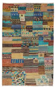 Moroccan Berber - Afghanistan Tapis 109X175 Moderne Fait Main Marron Foncé/Turquoise Foncé (Laine, Afghanistan)