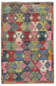 Moroccan Berber - Afghanistan Tapis 117X180 Moderne Fait Main Rouge Foncé/Noir (Laine, Afghanistan)