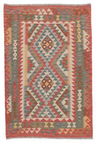 Kilim Afghan Old Style Tapis 100X155 D'orient Tissé À La Main Rouge Foncé/Marron Foncé (Laine, Afghanistan)