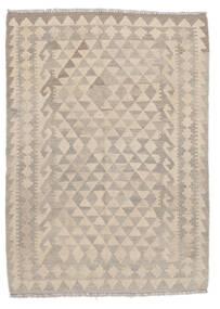 Kilim Afghan Old Style Tapis 108X140 D'orient Tissé À La Main Marron Clair/Blanc/Crème (Laine, Afghanistan)