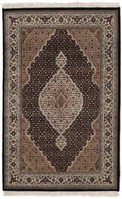 Tabriz Royal Tapis 118X186 D'orient Fait Main Noir/Marron Foncé ( Inde)